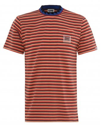 152cce7dca4 Mens Striped Pocket T-Shirt, Red Striped Tee SALE. Billionaire Boys Club ...