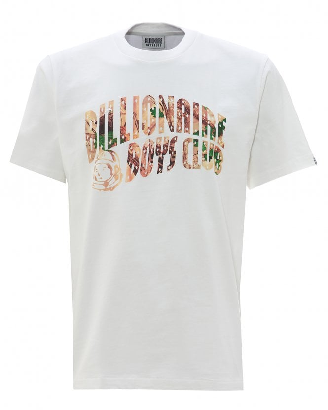 Billionaire Boys Club Mens Tree Camo Arch Logo T-Shirt, White Tee