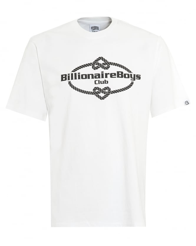 Billionaire Boys Club Mens Wreath Knot T-Shirt, Logo White Tee