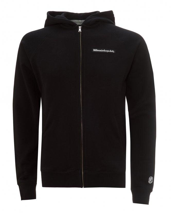 Billionaire Boys Club Mens Zip Through Logo Hoodie, Black Jacket
