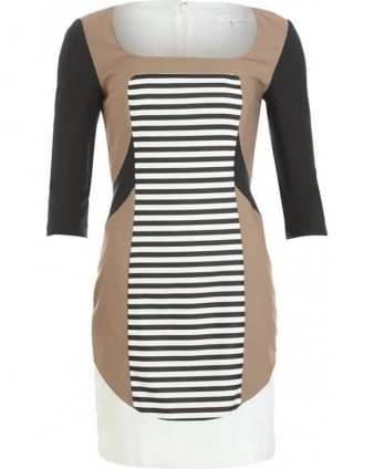 Black And White Block Stripe Dress