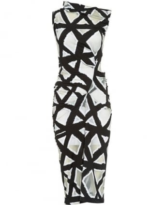 Black and White Geometric Taxa Dress