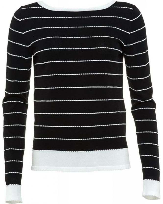 I Blues Black And White Striped 'Voto' Jumper