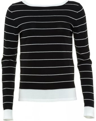 Black And White Striped 'Voto' Jumper