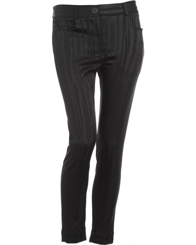 Vivienne Westwood Anglomania Black Basic Skinny Stripe Trouser