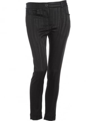Black Basic Skinny Stripe Trouser