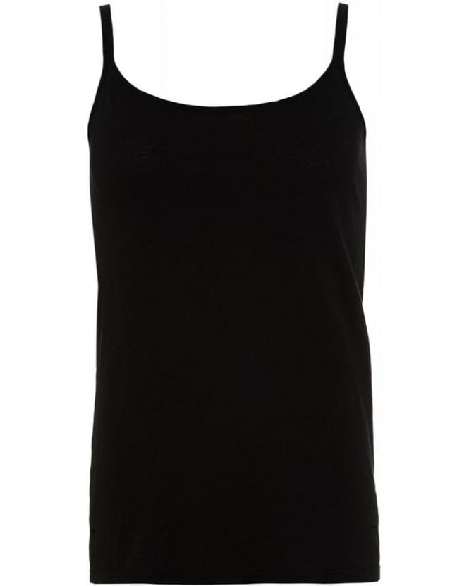 Velvet by Graham & Spencer Black Cotton Slub Miracle 02 Vest Top