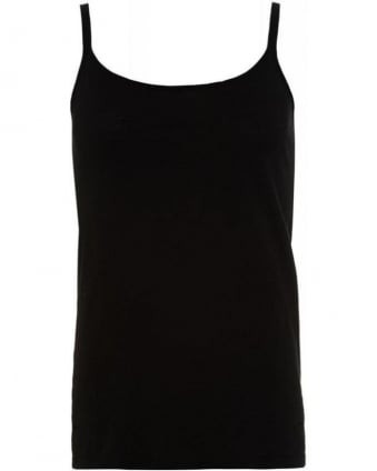 Black Cotton Slub Miracle 02 Vest Top