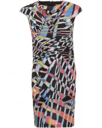 Black Multi Queen Swazi Print Dress