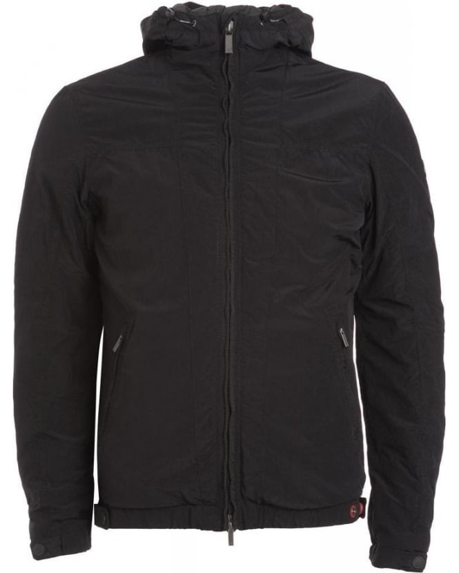 Armani Jeans Black Padded Hooded Jacket