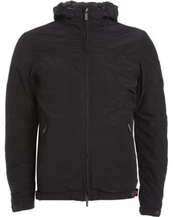 Black Padded Hooded Jacket