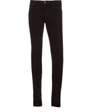 Black Skinny Fit, Stretch-Cotton Jeans