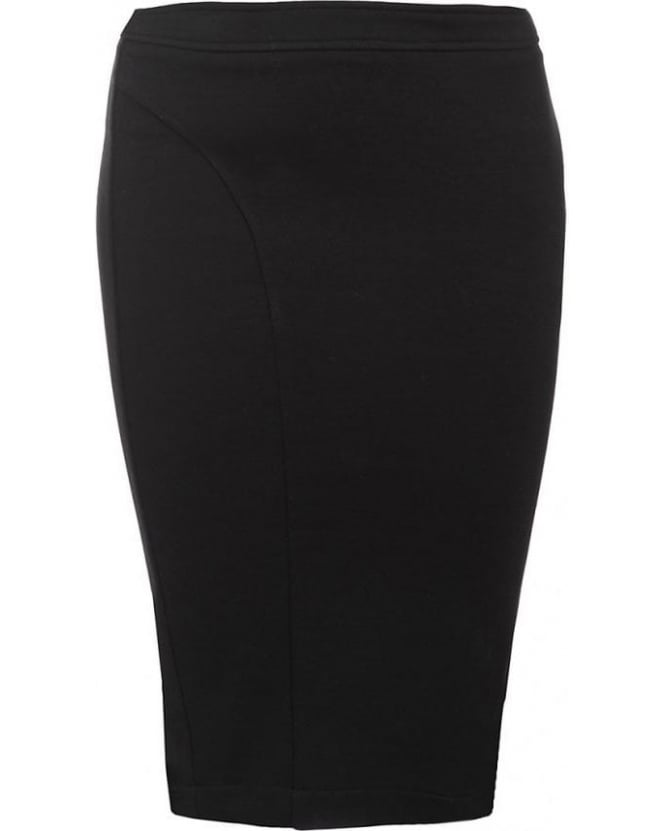 Patrizia Pepe Black Skirt, Slim Fit Pencil Skirt