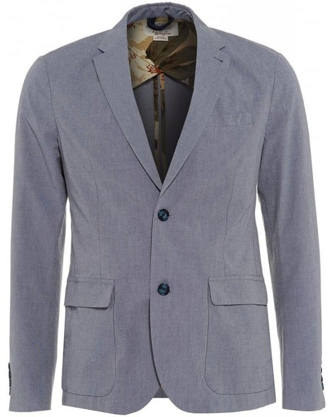 Original Penguin Blue Blazer With Hawaiian Print Lining