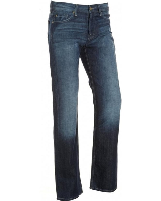 For All Mankind Blue Classic Straight Leg Blulies Jean