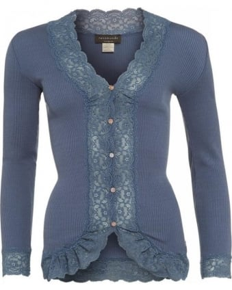 Blue Flint 'Bea' Silk Lace Cardigan