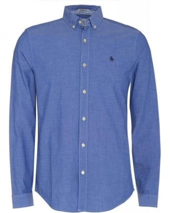 Blue Heritage Slim Fit Oxford Long Sleeve Shirt