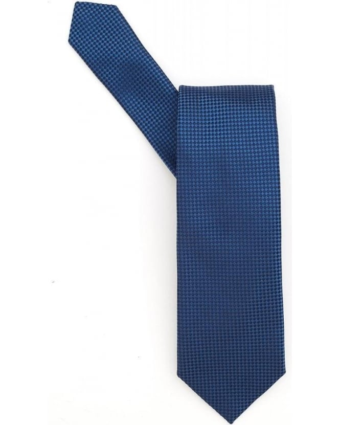Hugo Boss Black Blue Micro Square Silk Tie
