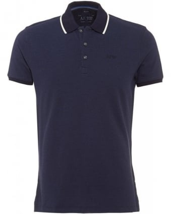 Blue Polo Contrast Tipped Polo Shirt