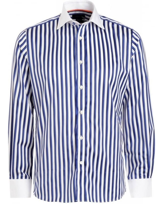Duchamp Blue Stripe Long Sleeve Shirt