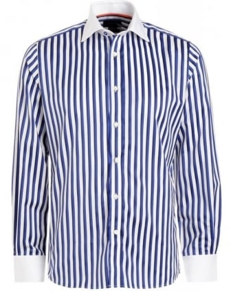 Blue Stripe Long Sleeve Shirt