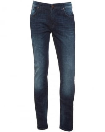 Blue Vision Thin Finn, Dark Cross Slim Fit Denim Jeans