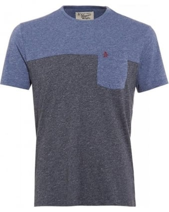 Boolean Two Tone T-shirt, Navy and Blue Tee