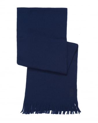 Mens C-Albas Ribbed Navy Blue Scarf
