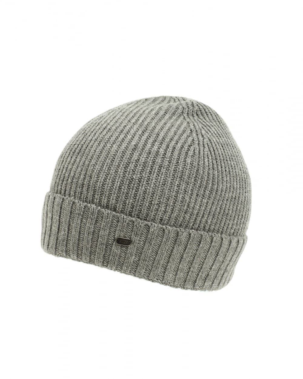Hugo Boss Mens C-Fati 2 Ribbed Wool Grey Beanie Hat 4ea2cc88a3a