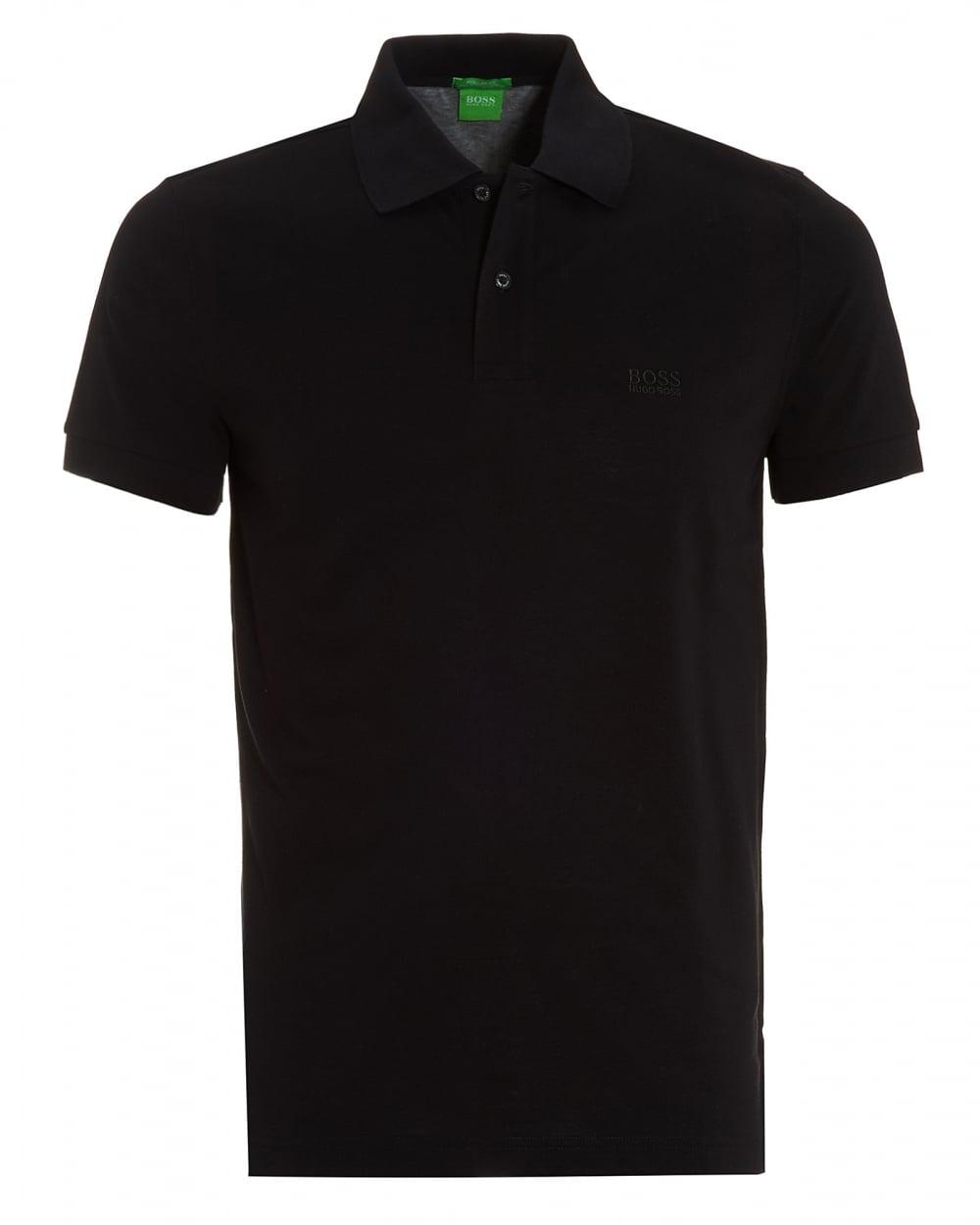 4880919a Hugo Boss Green Mens C-Firenze/Logo Polo, Regular Fit Black Polo Shirt