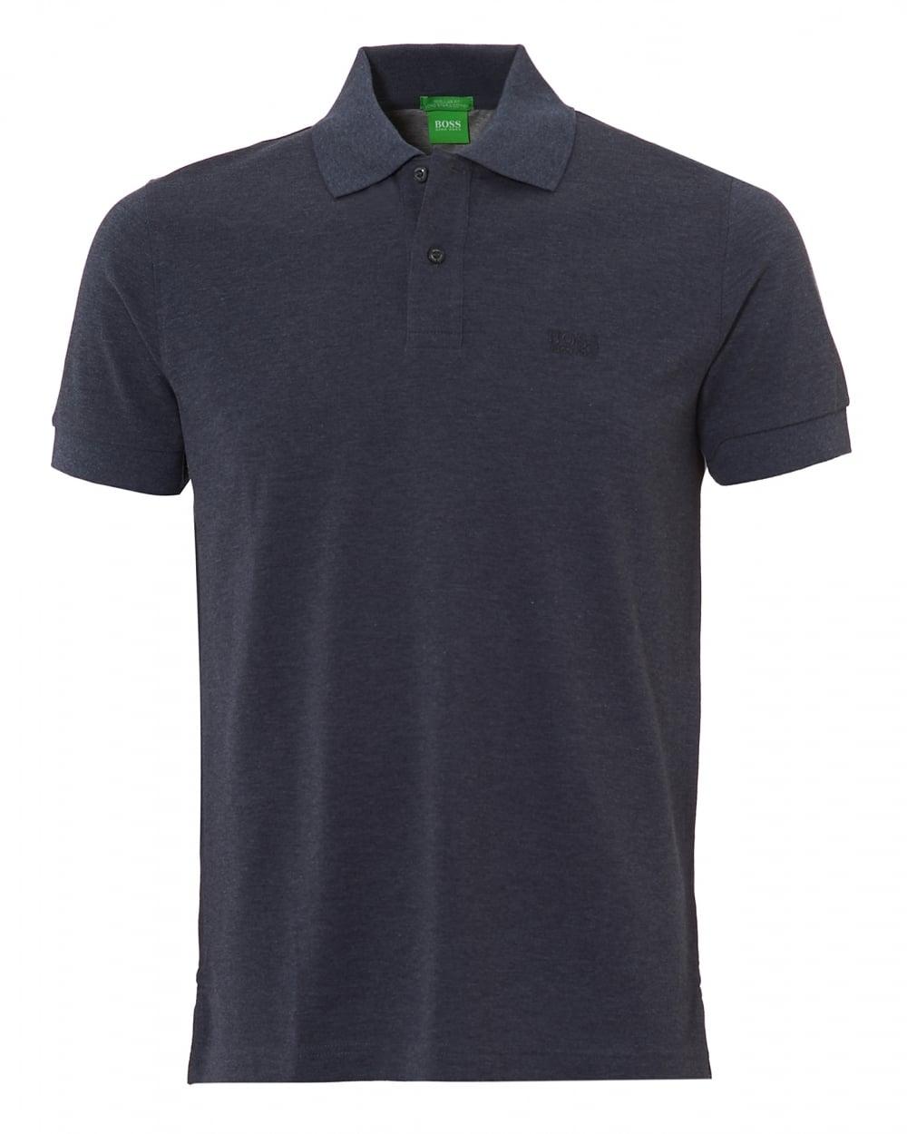 352e4110 Hugo Boss Green Mens Firenze Cotton Night Watch Melange Polo Shirt