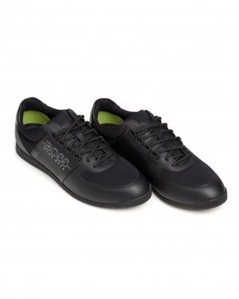 Mens Maze_Lowp_Neo2 Trainers, Band Strip Black Sneakers