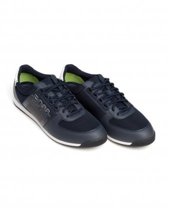 Mens Maze_Lowp_Neo2 Trainers, Band Strip Navy Blue Sneakers