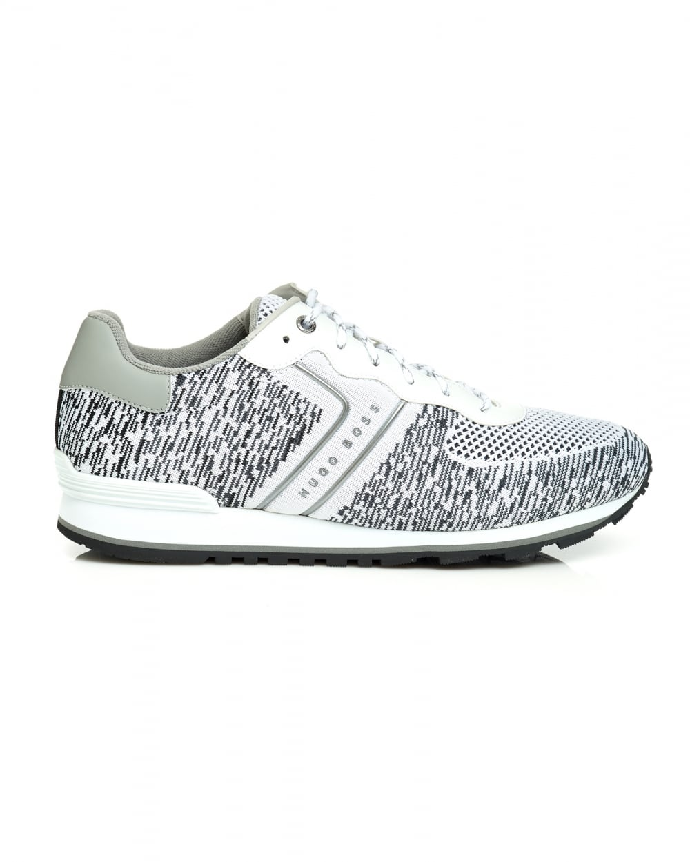 look for harmonious colors great quality Mens Parker Run Trainer, Black White Runner Sneaker
