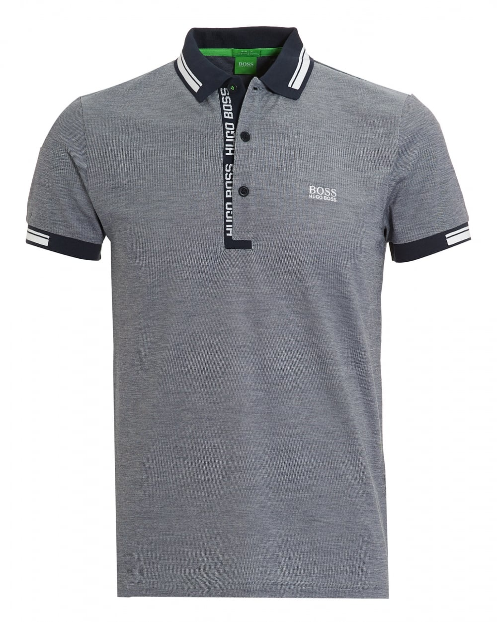 Hugo Boss Green Mens Paule 4 Oxford Pique Night Watch Navy Polo Shirt ca61ad993