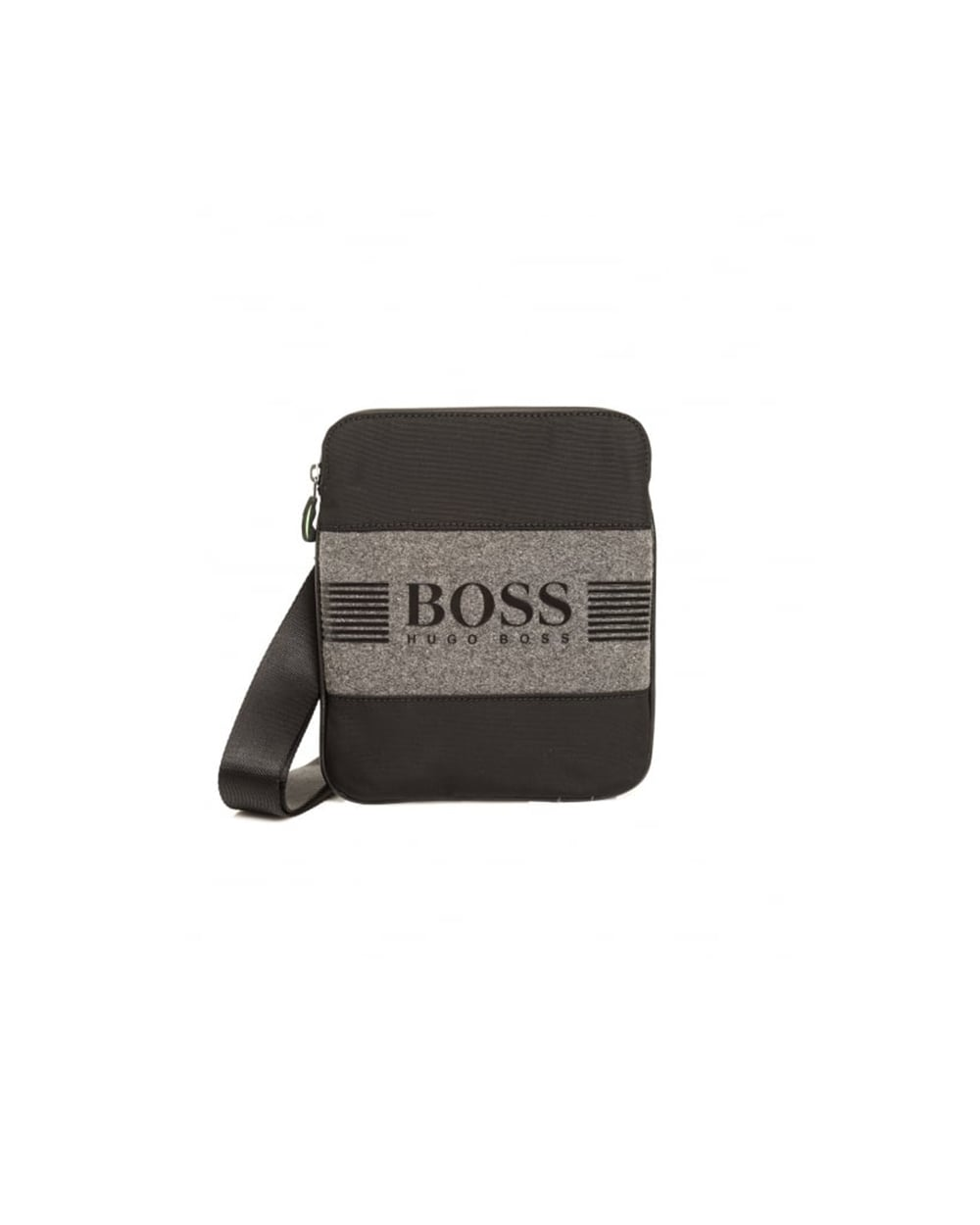 f004d471c6 Hugo Boss Green Mens Pixel F NS Stash Shoulder Black Bag