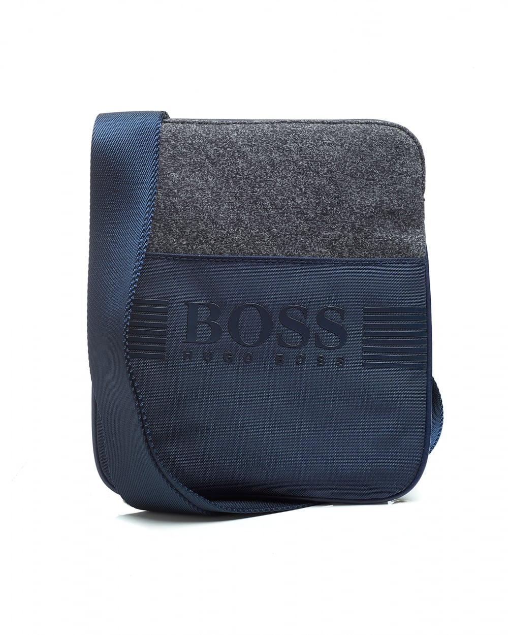 d8bcf5665754 Hugo Boss Green Mens Navy Compact Cross-Body Stash Bag