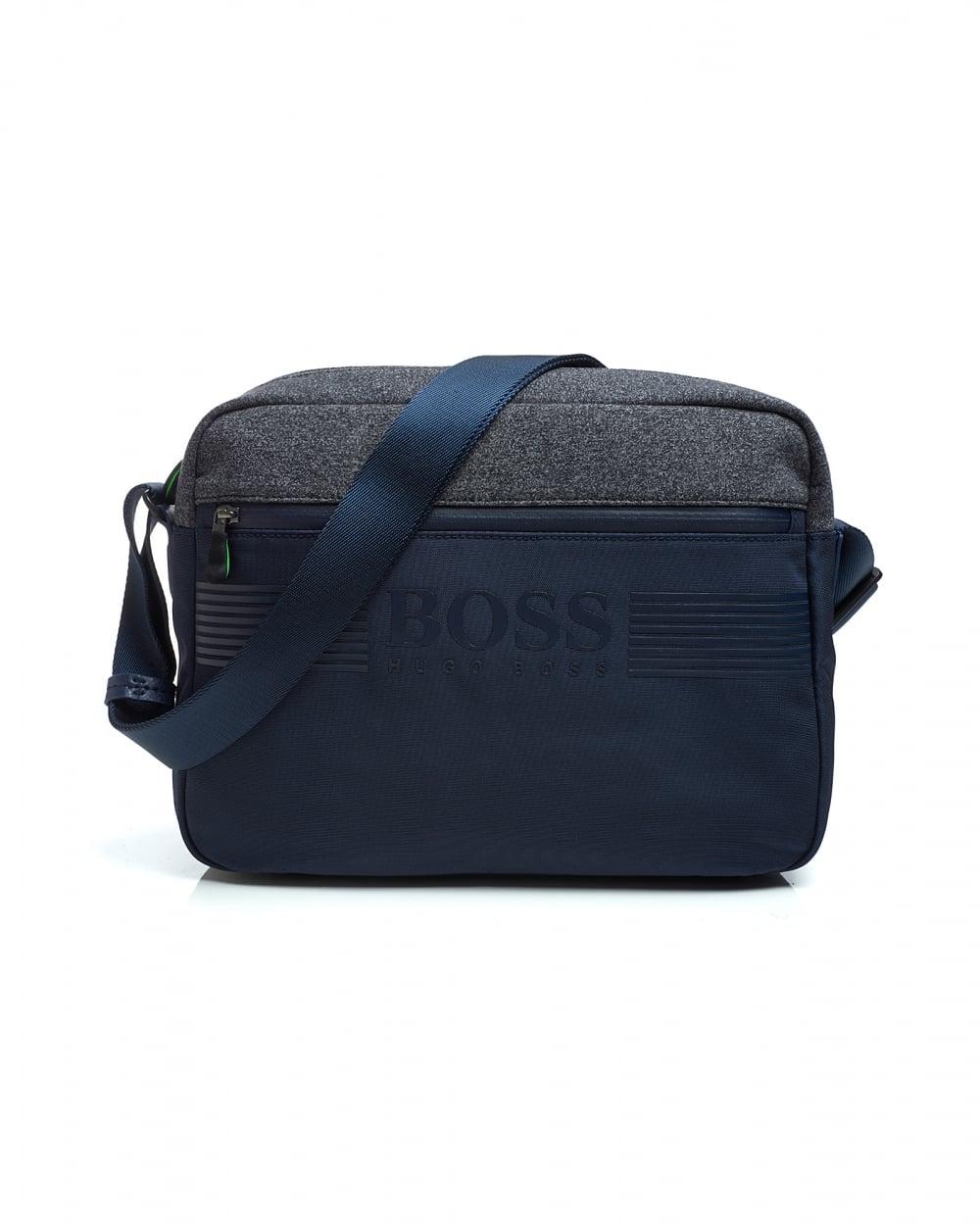 6418fbe34177 Hugo Boss Green Mens Pixel NN Messenger Bag