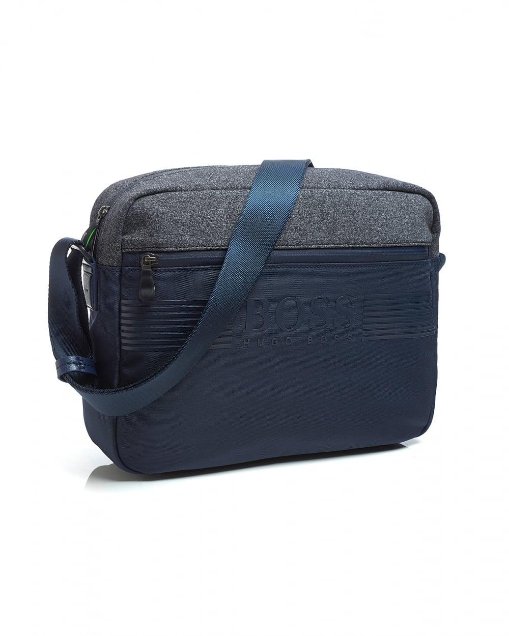 Hugo Boss Green Mens Pixel NN Messenger Bag e759ddbde05cf