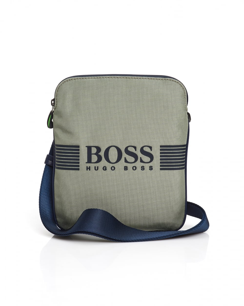 dcea6fcc23ab Hugo Boss Green Mens Pixel Shoulder Bag