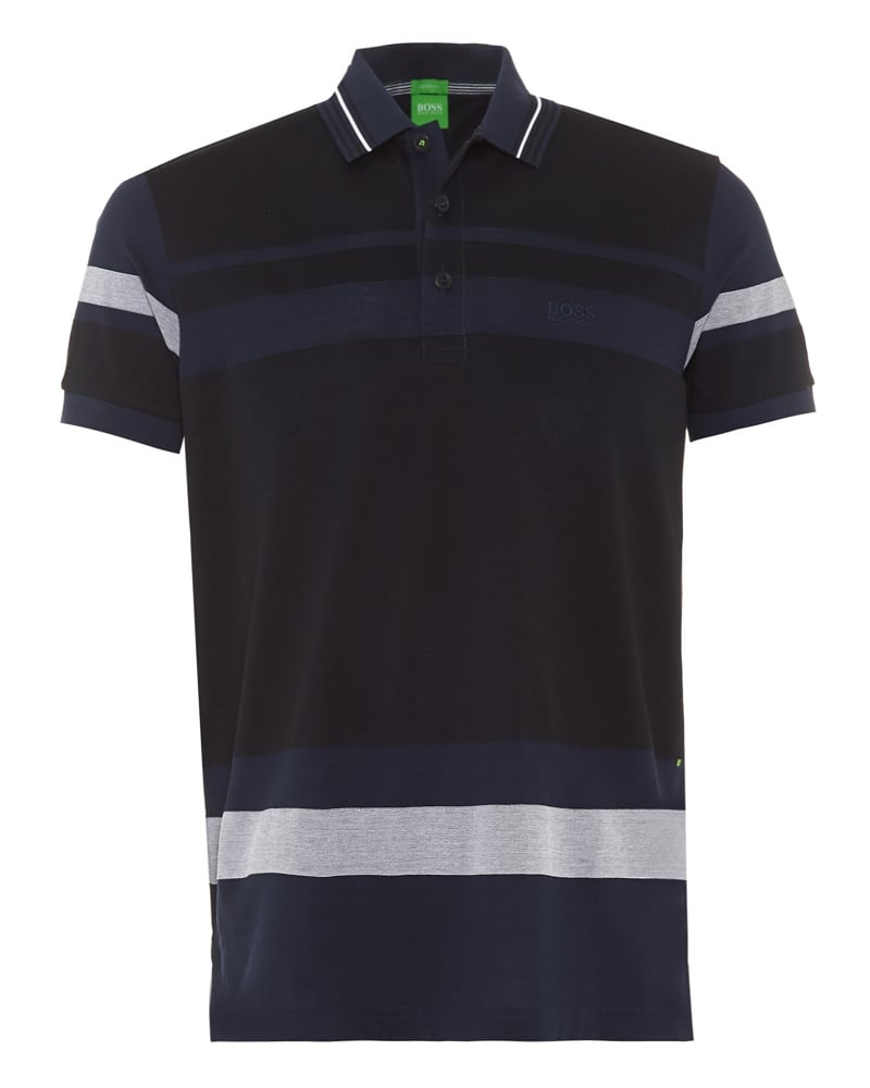BOSS ATHLEISURE PADDY MODERN FIT - Polo - navy 8NNJFcMN