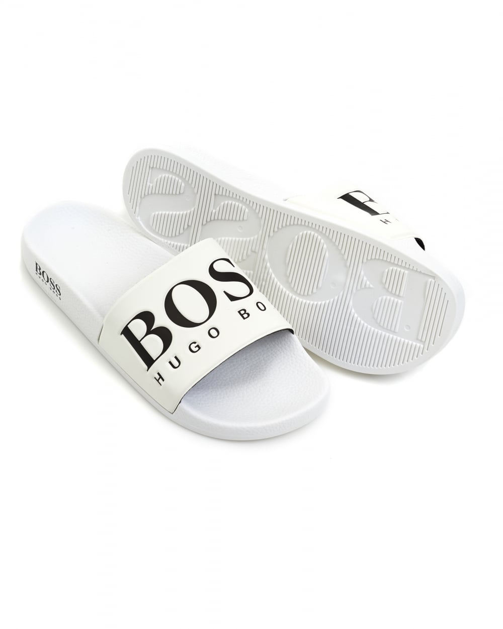757f0845d93677 Hugo Boss Green Mens Solar Slide Sandals