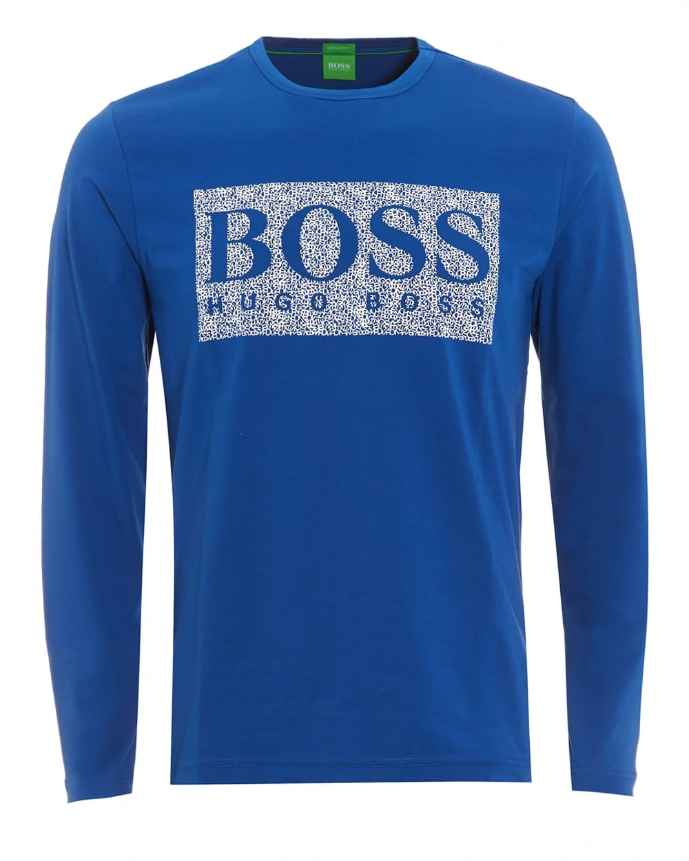 0fa8f13d Hugo Boss Green Mens Togn 1 T-Shirt, Monaco Blue Long Sleeve Logo Tee