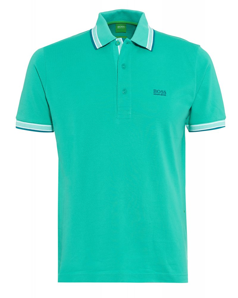 Hugo Boss Green Polo Shirt Mint Tipped  Paddy  Polo 0a81938e5