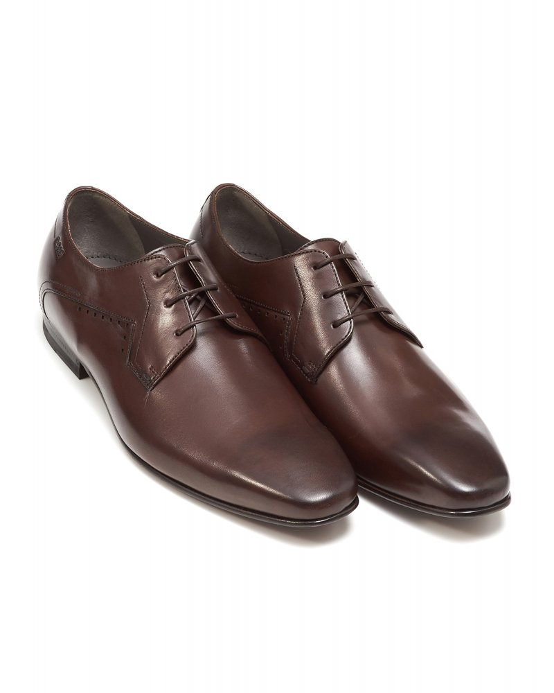 Derby shoes in leather BOSS rtoXUEWVP