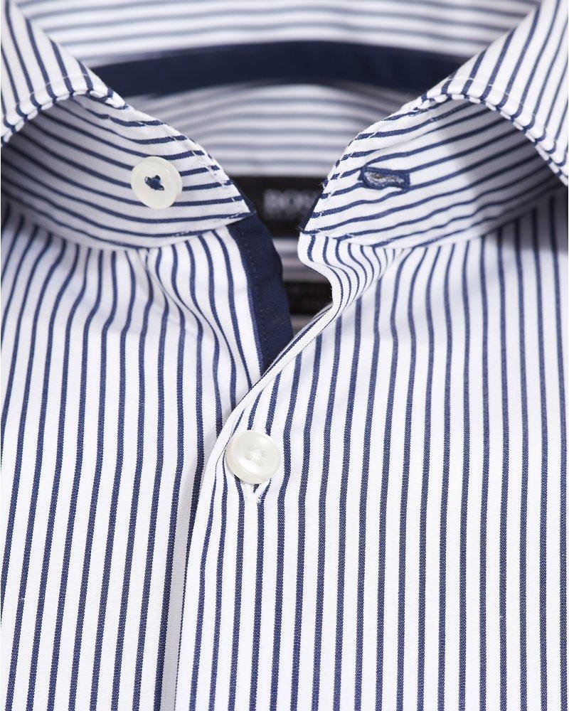 da2390b8c Hugo Boss Black Formal Jery Slim Fit Navy Stripe Shirt