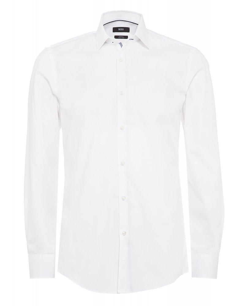 768bb5c2d Hugo Boss Classic Formal 'Joey' White Cotton Slim Fit Shirt