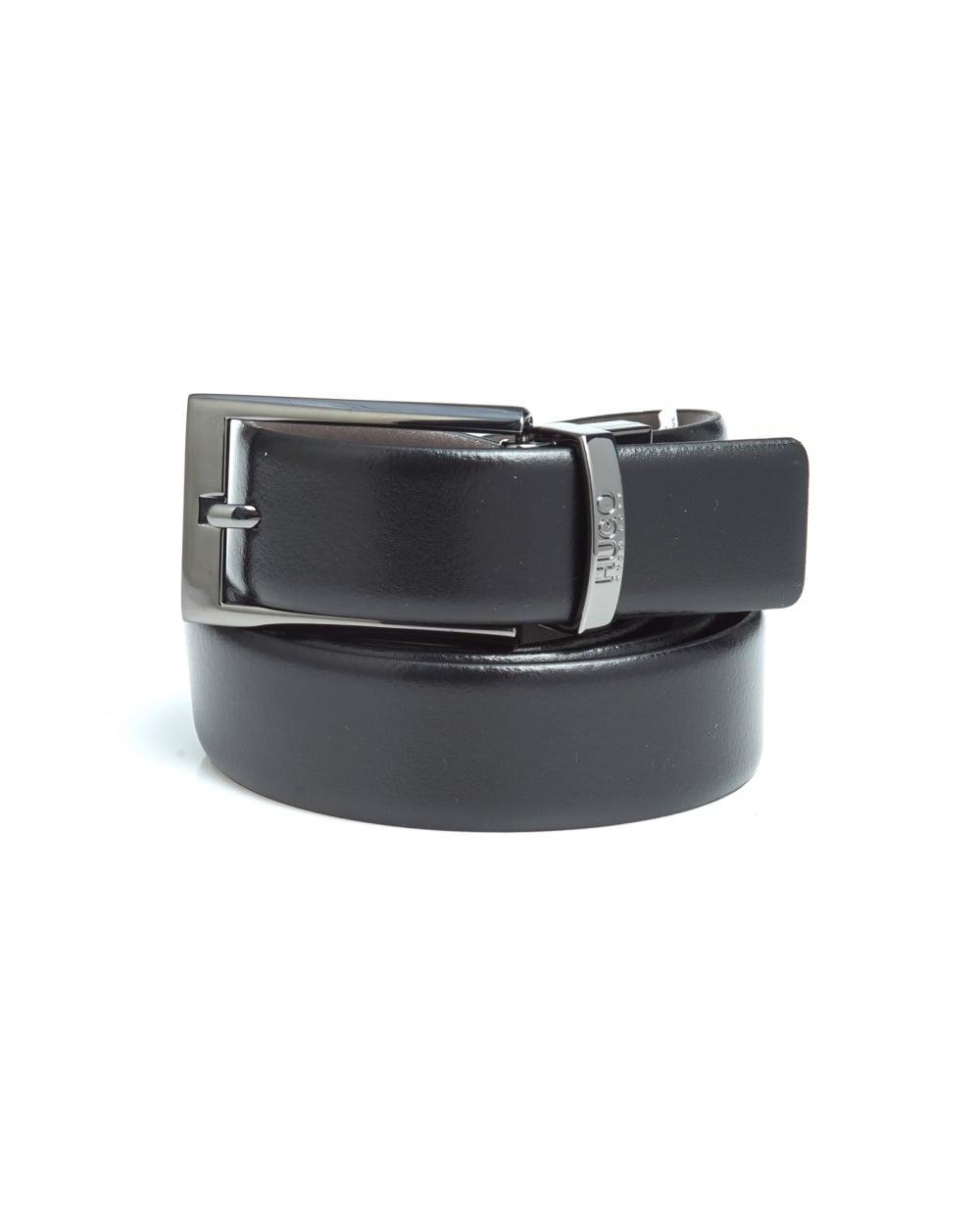 0d019827001 Hugo Boss Orange Mens C-Elvio Black Brown Reversible Leather Belt