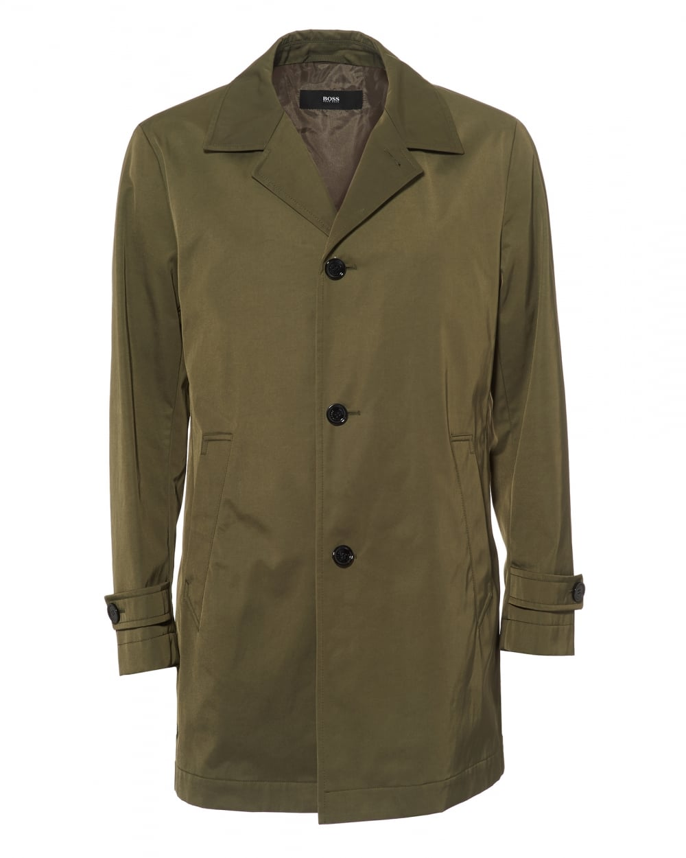 Relatively Hugo Boss Classic Mens Dais Jacket, Water Repellent Olive Raincoat CT68