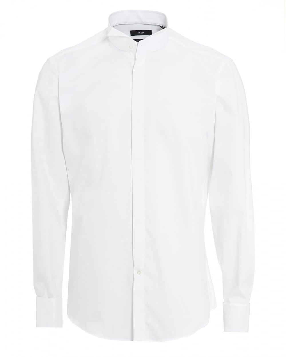 63e736ed878 Hugo Boss Mens Gewen Regular Fit White Dress Shirt